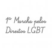 logo 1ª marcha pelos direitos LGBT